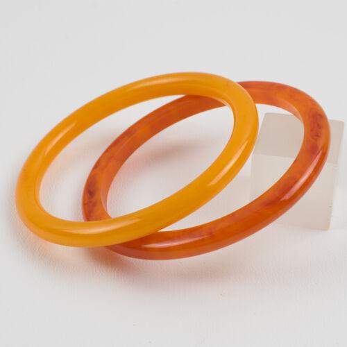 Vintage Bakelite Bracelet Spacer Bangle Orange and