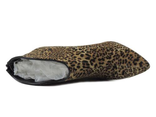 Pizazz taglia M Medium Beige da donna 6 Bootie leopardo Tessuto Santana Carlos b Bar8ABwq