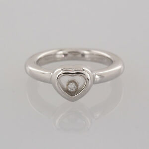 211dbb3c424bf Image is loading Chopard-18ct-White-Gold-Happy-Diamonds-Heart-Ring-