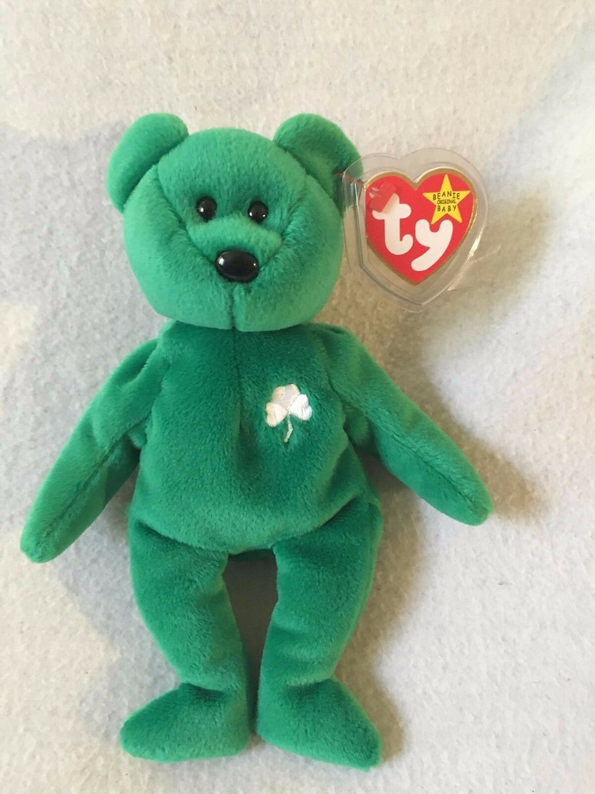 Ty Beanie Baby Original  Erin  Retired, First Edition, Rare