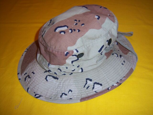 1990-91 USMC COMBAT USED DESERT CAMO CHOCOLATE CHIP BOONIE HAT 7TH MAR REGT 7dc60deaa10
