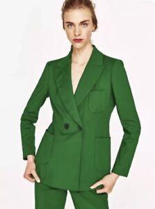 Taille Zara Blazer Bnwt Uk S Smart Croisé Blouson Green 10 qqFSwa7xPW