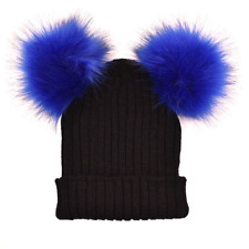 565db4ca item 1 Women's Winter Beanie Outdoor Chunky Knit with Double Fur Pom Pom  Cute Hat -Women's Winter Beanie Outdoor Chunky Knit with Double Fur Pom Pom  Cute ...