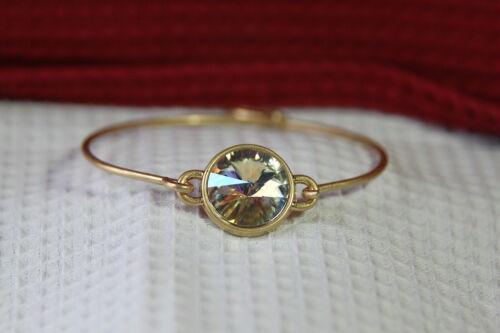 "Neuf or Bracelet Avec Rond Cristal 7.25/"" Dia. PILLAGE Bracelet"