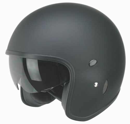 Cuoco uomo Redbike casco moto nero RB 780 Moto Roller Casco Visiera