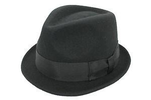 pour-100-LAINE-FEUTRE-fait-a-la-main-chapeau-mou-avec-satin-doublure-marron