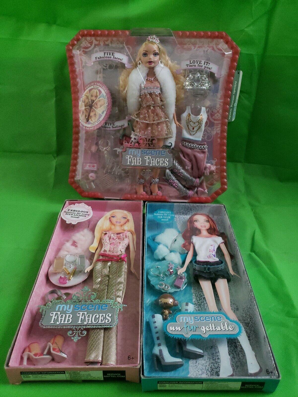 2006 Barbie My Scene FAB caras Kennedy Muñeca y vestido Lote