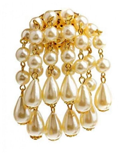 White Cream Pearl Antique Vintage Wedding Bridal Prom Dress Party Brooch Pin UK