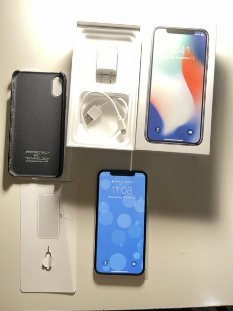 Apple iPhone X - 256GB - White Silver (Unlocked) MQA92LL