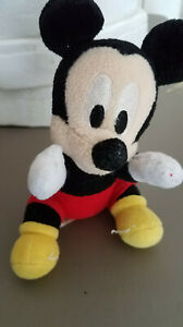 Disney-Mickey-Mouse-Plush-5-inches-tall-seated