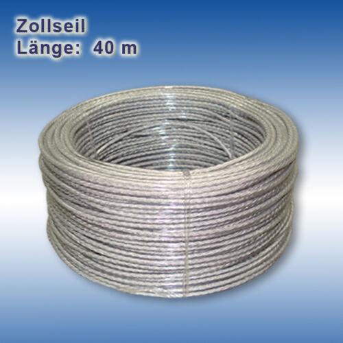 Zollseil PVC Planenseil Stahldrahteinlage Seil Digitaldruck Anhänger 6 mm 8 mm