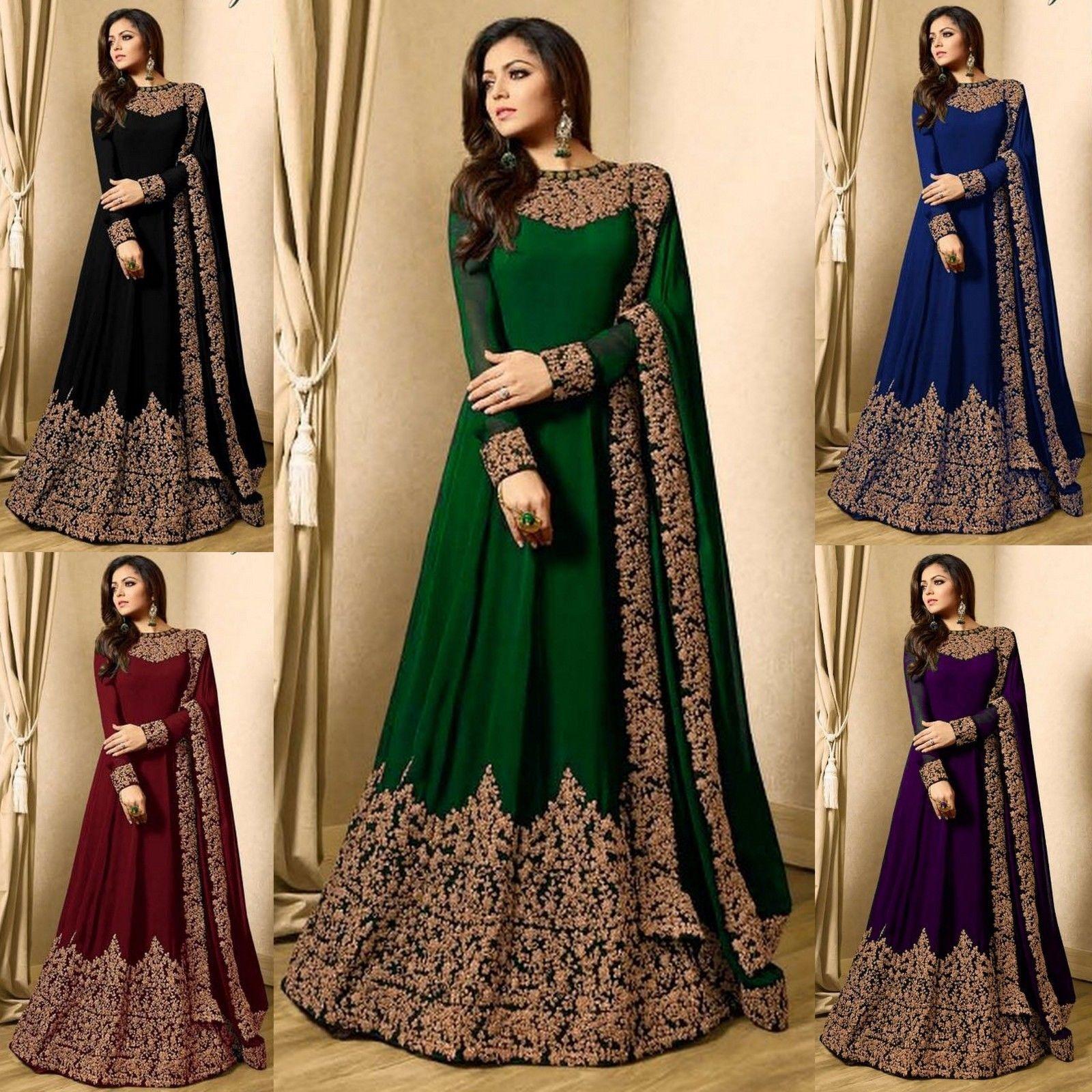 Indian Bollywood Ethnic Salwar Kameez Designer Anarkali Suit &Traditional Suits
