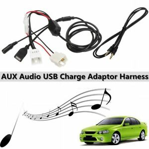 AUX-in-Audio-USB-Charge-Adaptor-Cable-For-Ford-Falcon-Territory-BA-BF-SX-SY-SYII