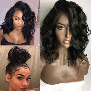 Real Brazilian Virgin Human Hair Wigs Body Wave Lace Front Wig Pre ...