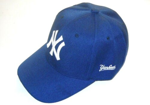 New York Yankees Cap Hat One Size Adjustable Curved Bill Navy Blue New!!