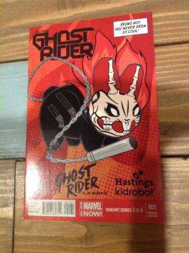 Ghost Rider 1 1st Robbie Reyes Kidrobot Variant Cover Labbit Hastings
