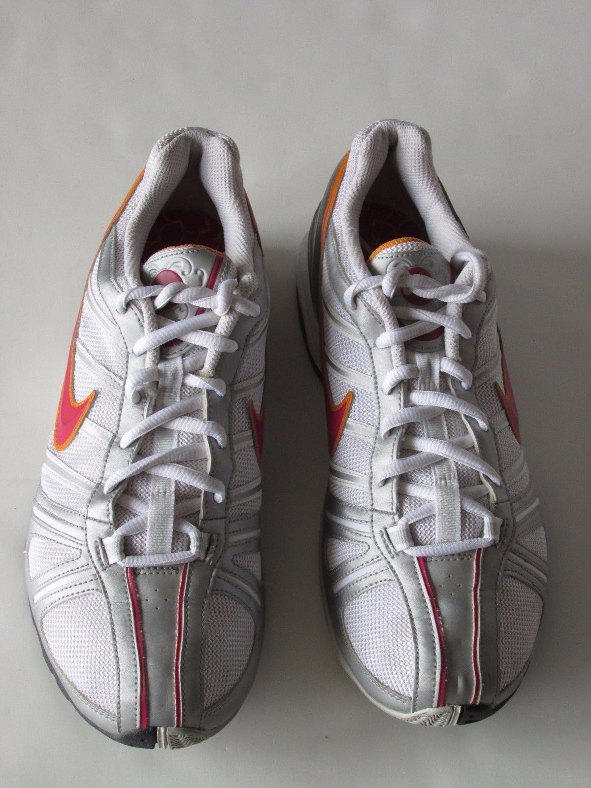 sale retailer b35e9 c0900 ... Nike Air Max White Red Red Red Silver Synthetic Mesh Running Shoes  Women s US 9M 64f64a ...