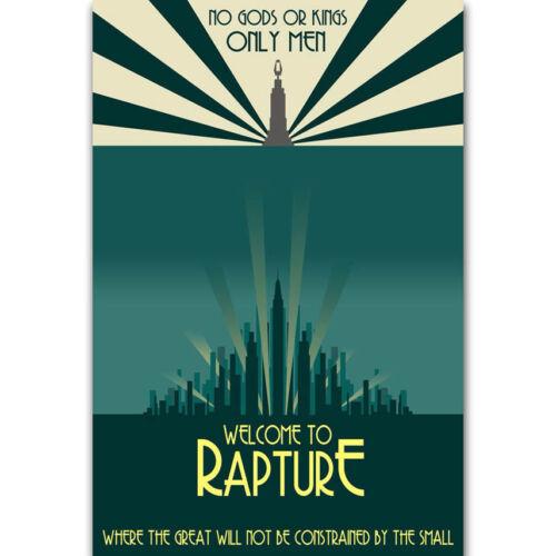 Art Poster Welcom To Rapture Light Canvas Bioshock Home Decor D358
