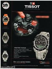 PUBLICITE ADVERTISING 095 2009  TISSOT  montre  TOUCH EXPERT