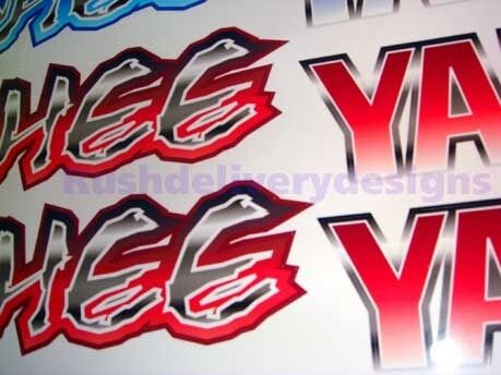 350 6 speed Warrior Decals RED Full Color Stickers Graphics 14pc ATV QUAD
