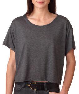 be42705c Bella Ladies NEW Size S-L/XL Flowy Boxy Cropped Crewneck T-Shirt ...