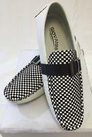 Mens Giovanni Shoe Loafer Fashion Italian Casual Slip On Suede Plaid Black White