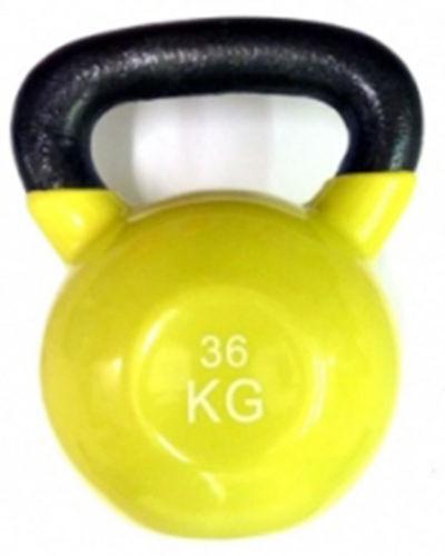 Ironman Colour Vinyl Kettlebell 36kg - Gelb  - FREE Postage UK Mainland