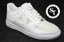 NIKE LUNAR FORCE 1 FUSE QS 614491-100 EASTER EGG PEARL WHITE DS SIZE: 10