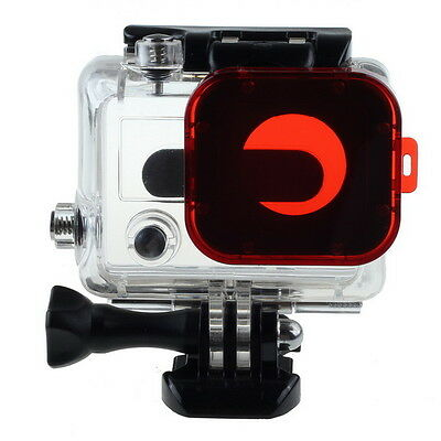 Red/Grey Under Sea Diving Underwater Snap-on Lens Color Filter For GoPro Hero 3