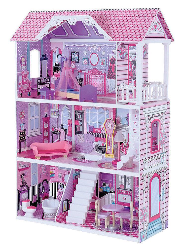 EntièreHommes t t t neuf dans sa boîte Luxe Femmeor en bois Maison de poupées 117.5 cm de haut   10% à une Oeuvre Caritative 9d6deb