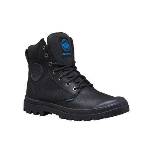 Black Men/'s Palladium Boots WaterProof Pampa Sport Cuff WPN Black