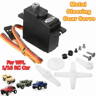 Upgrade Metal Steering Gear Servo Set For 1:16 WPL Series B-14 B-14K RC Car