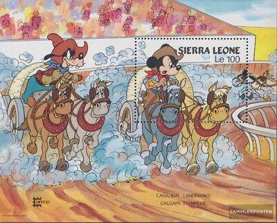 Neuf Avec Gomme Originale Motivated Sierra Leone Sierra-léonais Bloc 59 complète Edition
