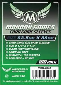 MAYDAY-GAMES-Standard-Size-Board-Game-Card-Sleeves-Clear-63-5-x-88mm-100ct