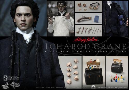 Sleepy Hollow Ichabod Crane 1:6 HotToys /_ MMS270 /_ Scellé Chargeur! Johnny Depp