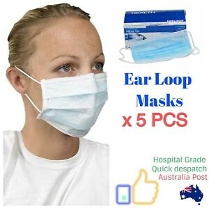 5 Mask Latex Free Dental Pcs Surgical Loop Medical Disposable Ear Influenza About Details X