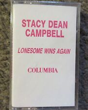 """STACY DEAN CAMPBELL""""LONESOME WINS AGAIN"""" 1992 STILL SEALED ADAVANCE PROMO OOP"""