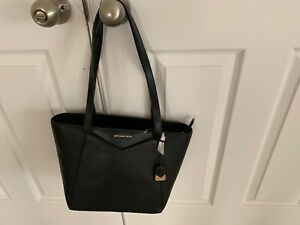 Michael-Kors-M-Tote-TZ-Tote-Leather-Black-NWT-MSRP-248