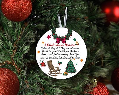 Christmas in Heaven Memorial Christmas Aluminum Ornament for Loved One