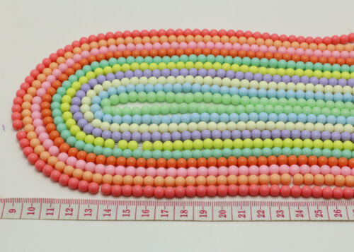 200PCS  6mm Acrylic Beads Bubblegum Bead For Jewelry Making 10 colors for pick