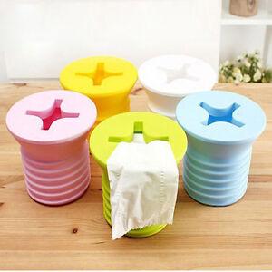 Novelty Screw Tissue Roll Holder Box Cover Toilet Paper