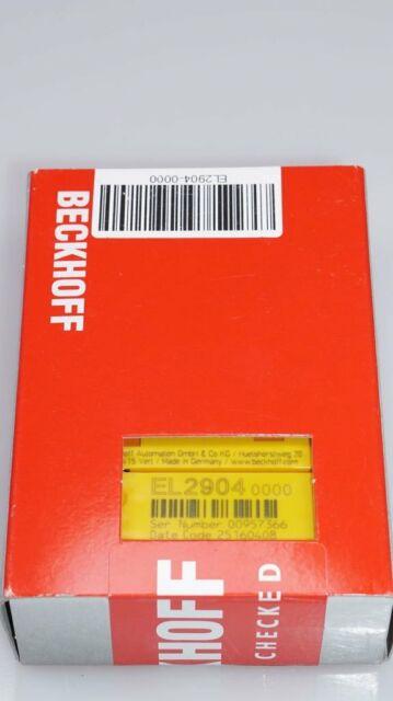 BECKHOFF EL2904 4-Kanal-Digital-Ausgangsklemme Jumeau COFFRE-FORT 24V