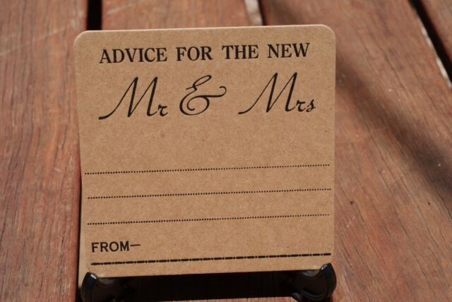 Rustic Advice Wedding Letterpress Coasters X 101