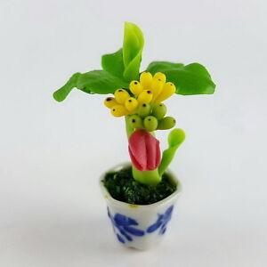 Image Is Loading New Dollhouse Miniature Handmade Tiny Small Banana Tree