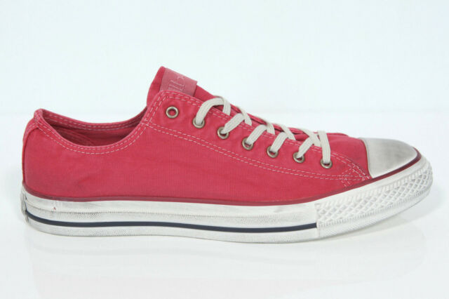 5a4fd88a118933 New all Star Converse Chucks Low Trainers 136715c Red Well Worn Retro Size  44