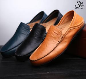prix de la rue bonne texture couleurs délicates Détails sur chaussure mocassin cuir homme noir marron ville pas cher sans  lacet confortable