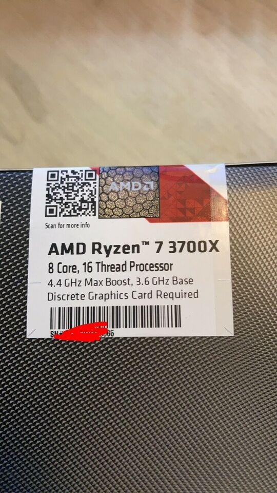 CPU, AMD, Ryzen 7 3700X