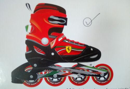 Ferrari Kinder Inliner Inlineskates Gr OVP 30-33 Rot NEU