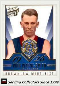 2015-Select-AFL-Honours-S2-Brownlow-Gallery-Card-BG52-Ivor-Warne-Smith-Melb