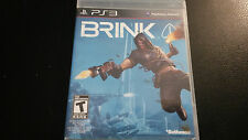 Brink PS3 Playstation 3 CIB with Manual. CD NM Tested